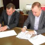 Sombor PARAF Pavel Severini i Kostadin Perovic potpisuju ugovor ,foto J.Bekic